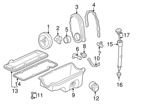 OEM 1997 Chevrolet Cavalier Engine Parts Parts