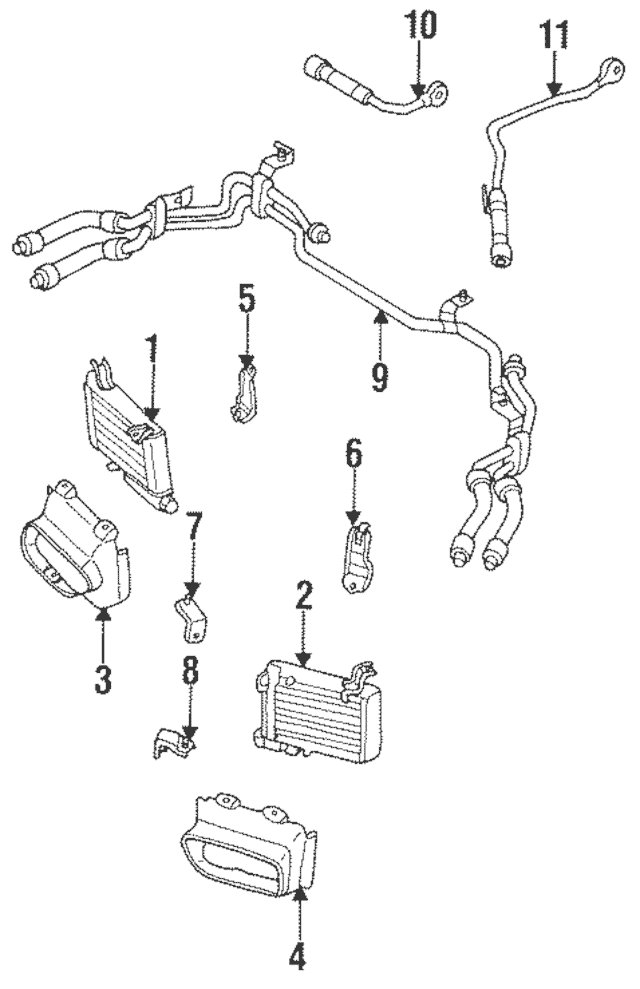 1993-1995 Mazda RX-7 Oil Cooler Assembly N3A3-14-700B