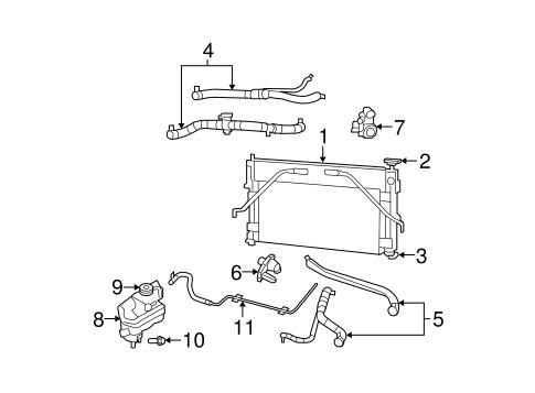 Radiator & Components for 2008 Chrysler Sebring Parts