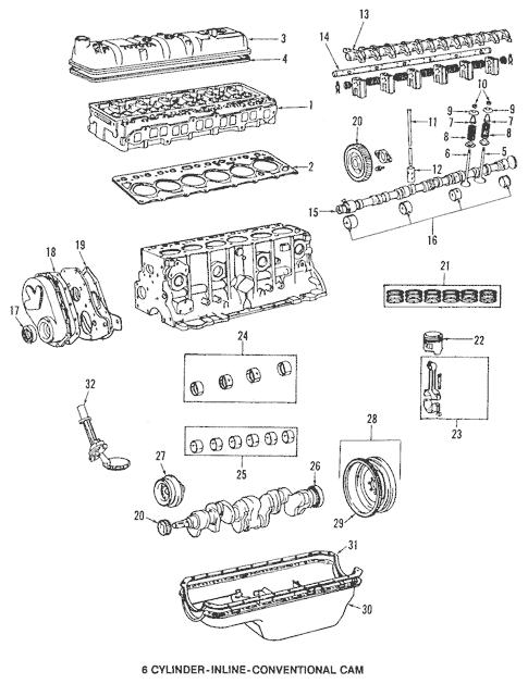 Genuine OEM Engine Parts Parts for 1984 Toyota Land