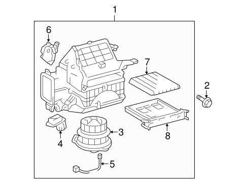 Genuine OEM Blower Motor & Fan Parts for 2008 Toyota Prius