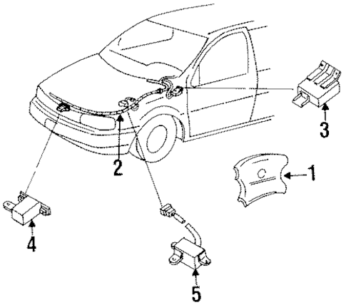 Air Bag Components for 1996 Mercury Villager