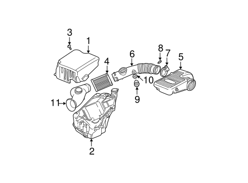 OEM 2004 Chevrolet Trailblazer Air Intake Parts