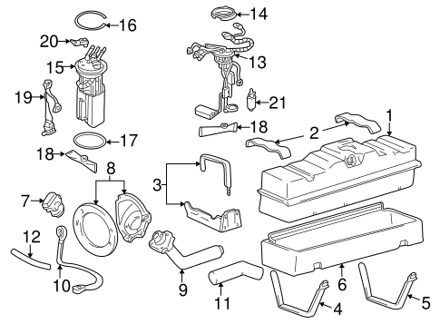 Fuel System Components for 1998 Chevrolet K1500 Pickup