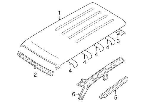 Roof & Components for 2005 Mitsubishi Montero
