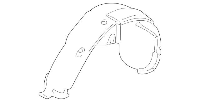 2003-2006 Porsche Cayenne Wheelhouse Liner 955-504-972-02