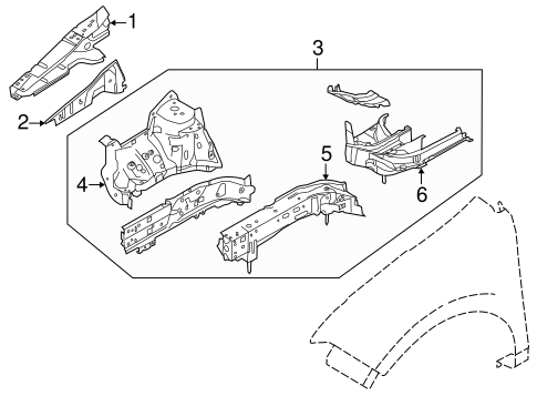 Structural Components & Rails for 2011 Ford Edge