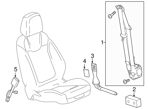 Front Seat Belts for 2020 Buick Regal TourX