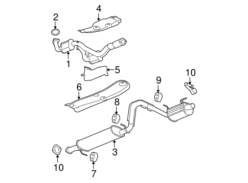 Exhaust Components for 2007 Chevrolet Trailblazer