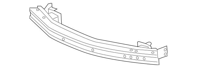 2014-2017 Acura MDX 5-DOOR Beam, Front Bumper 71130-TZ5