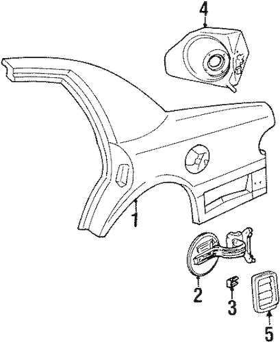 QUARTER PANEL & COMPONENTS for 1999 Mercury Grand Marquis