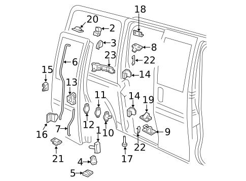 Lock & Hardware for 2006 Chevrolet Express 3500