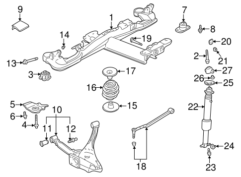 OEM Rear Suspension for 2004 Cadillac DeVille