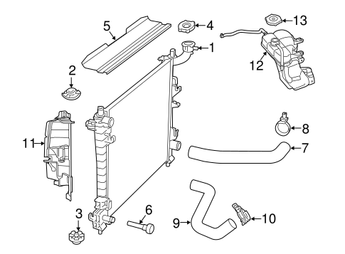 RADIATOR & COMPONENTS for 2013 Jeep Grand Cherokee
