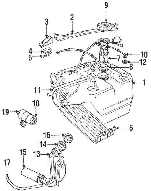 Fuel System Components for 1997 Land Rover Discovery
