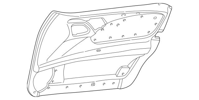 2000-2003 Mercedes-Benz Door Trim Panel 210-720-78-72-8G70