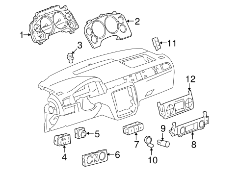 OEM Cluster & Switches for 2007 Chevrolet Tahoe