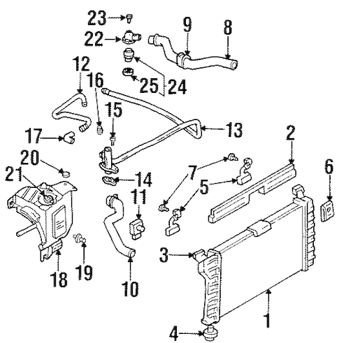 OEM RADIATOR & COMPONENTS for 1998 Chevrolet Lumina