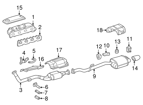 Exhaust Components for 1998 Mercedes-Benz SLK 230