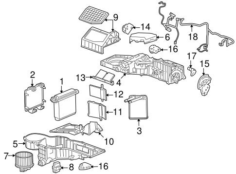 Condenser, Compressor & Lines for 2008 Hummer H2
