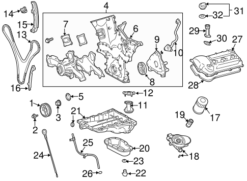 Genuine OEM Engine Parts Parts for 2007 Toyota FJ Cruiser