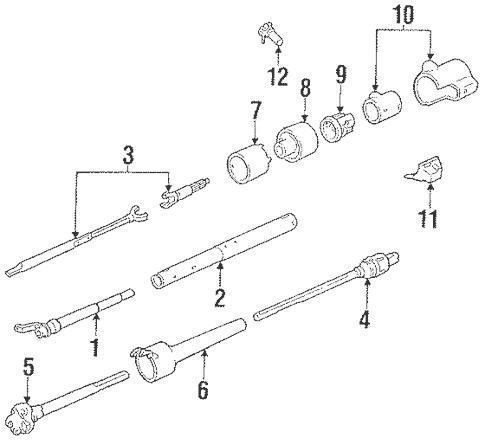 Steering Column Components for 1989 Chevrolet S10 Blazer