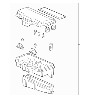 2001-2002 Acura MDX 5-DOOR Box Assembly, Relay 38250-S3V