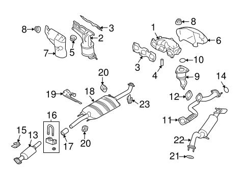 OEM 2010 Mercury Mariner Exhaust Components Parts