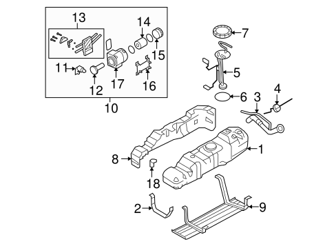 Fuel System Components for 2008 Ford F-250 Super Duty