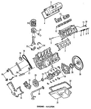 ENGINE for 2003 Mercury Grand Marquis