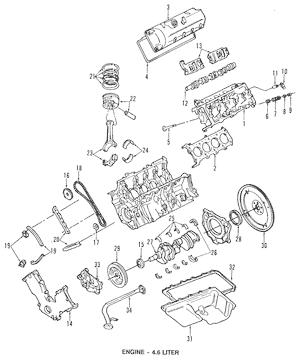 Ford 4.6L 5.4L Left Driver Camshaft Timing Belt Chain