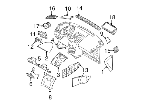 INSTRUMENT PANEL COMPONENTS for 2013 Nissan Rogue