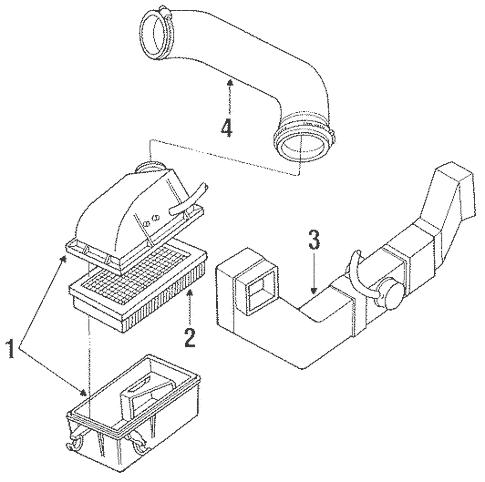 OEM 1991 Ford Ranger Air Intake Parts