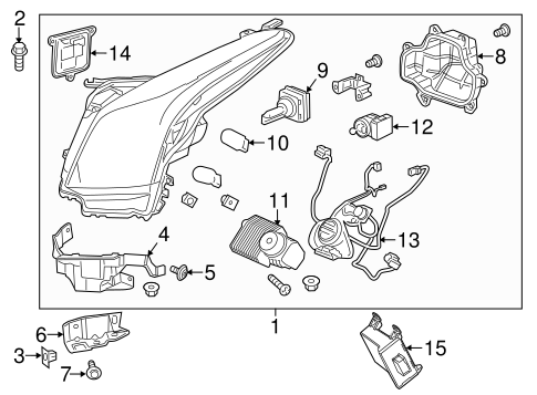 OEM Headlamp Components for 2016 Cadillac ATS