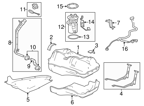 Fuel System Components for 2012 Chevrolet Sonic
