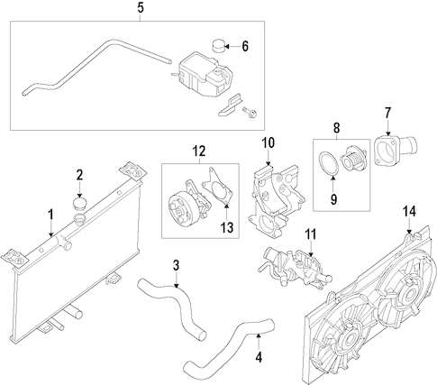 WATER PUMP for 2015 Nissan Sentra