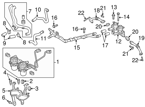 Genuine OEM A.I.R. System Parts for 2007 Toyota Tundra