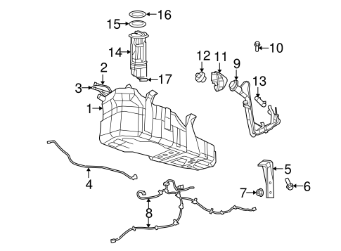 Fuel System Components for 2011 Dodge Nitro Parts