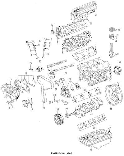 ENGINE PARTS for 1995 Toyota 4Runner