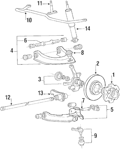 FRONT BRAKES for 1988 Mitsubishi Mighty Max