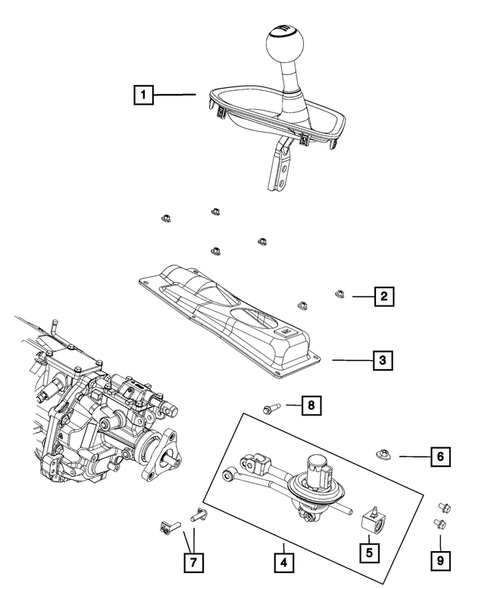 Gearshift Controls and Related Parts for 2018 Dodge