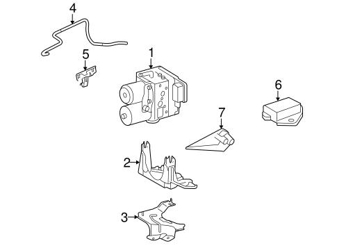 Genuine OEM Anti-Lock Brakes Parts for 2009 Toyota Camry