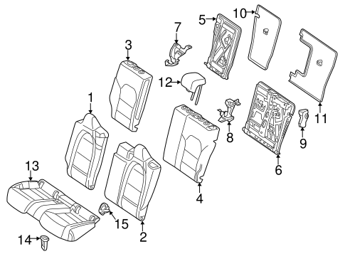 REAR SEAT COMPONENTS for 2014 Mercedes-Benz CLA 250