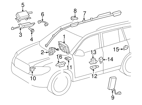 Genuine OEM Air Bag Components Parts for 2010 Toyota