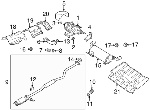 EXHAUST COMPONENTS for 2009 Mazda CX-7