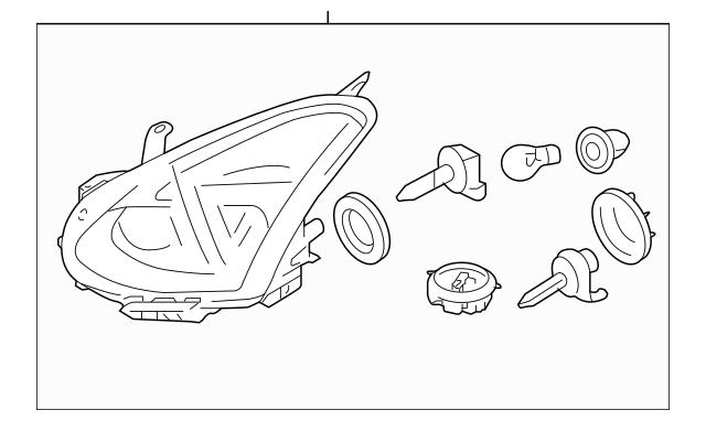 2011-2012 Nissan Rogue Headlamp Assembly 26010-1VK1A
