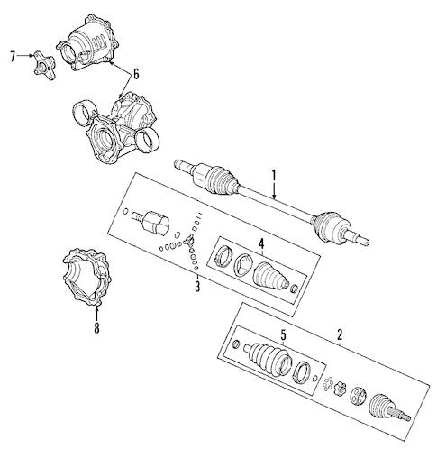 OEM 2006 Pontiac Torrent Propeller Shaft Parts