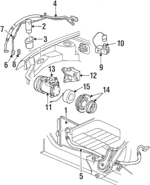 Condenser, Compressor & Lines for 1997 Dodge Neon Parts
