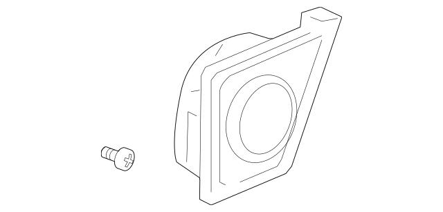 2009-2011 Honda ELEMENT 5-DOOR Grille, L Rear Speaker