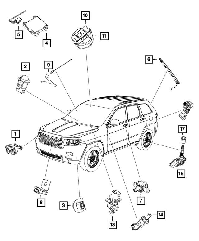 OEM Mopar Intrusion Module Sensor For 2015-2020 Jeep Grand